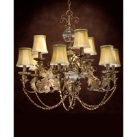 John Richard St. Charles 9 Light Chandelier in Hand-Painted AJC-8339