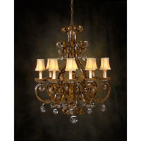 John Richard Alexander John Sierra Del Sol 10 Light Chandelier in Hand-Painted  AJC-8350