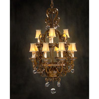 Sierra Del Sol 12 Light 32 inch Hand-Painted Chandelier Ceiling Light