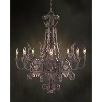 John Richard Provenza 8 Light Chandelier in Hand-Painted AJC-8363 photo thumbnail