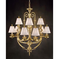 John Richard Montaigne 9 Light Chandelier in Plated AJC-8377