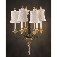 John Richard Martinique 6 Light Chandelier in Hand-Painted AJC-8425