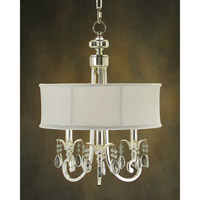 Lombard 3 Light 17 inch Silver and New Oyster White Chandelier Ceiling Light
