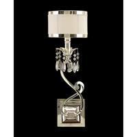 Lombard 1 Light 7 inch Silver and New Oyster White Wall Sconce Wall Light