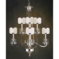Lombard 8 Light 36 inch Plated Chandelier Ceiling Light