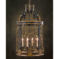 John Richard Ile St. Louis 4 Light Pendant in Hand-Painted AJC-8481