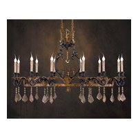 John Richard Ile St. Louis 12 Light Chandelier in Hand-Painted AJC-8482