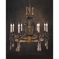 John Richard Alexander John St. Louis 8 Light Chandelier in Hand-Painted  AJC-8483
