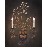 John Richard Alexander John St. Louis 2 Light Wall Sconce in Hand-Painted  AJC-8485