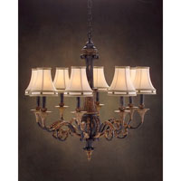 John Richard Fisher Island 8 Light Chandelier in Hand-Painted AJC-8495
