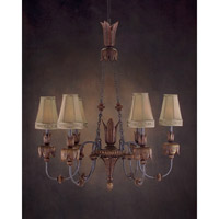 Grand Dame 6 Light 20 inch Hand-Painted Chandelier Ceiling Light