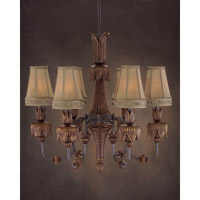 Grand Dame 6 Light 31 inch Hand-Painted Chandelier Ceiling Light