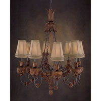 Grand Dame 8 Light 35 inch Hand-Painted Chandelier Ceiling Light