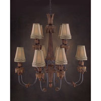 John Richard Grand Dame 12 Light Chandelier in Hand-Painted AJC-8504