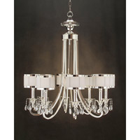 John Richard Lombard 8 Light Chandelier in Plated AJC-8512