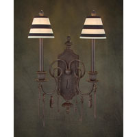 John Richard Alexander John 2 Light Wall Sconce in Hand-Painted AJC-8536