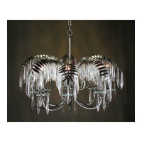 Alexander John 8 Light 30 inch Hand-Painted Chandelier Ceiling Light
