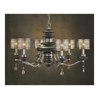 John Richard Alexander John 6 Light Chandelier in Hand-Painted AJC-8553