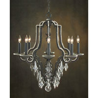 John Richard Alexander John 8 Light Chandelier in Hand-Painted AJC-8568