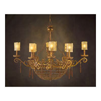 John Richard Alexander John 8 Light Chandelier in Hand-Painted AJC-8599