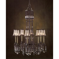 Glenmore 8 Light 35 inch Hand-Painted Chandelier Ceiling Light