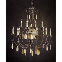 John Richard Stonehenge 12 Light Chandelier in Hand-Painted AJC-8630