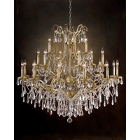 Hotel Warick 21 Light 48 inch Hand-Painted Chandelier Ceiling Light