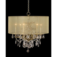 John Richard AJC-8644 Hotel Warwick 6 Light 27 inch Champagne Pendant Ceiling Light, Hand-Painted