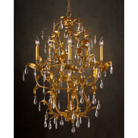 John Richard Alexander John 6 Light Chandelier in Hand-Painted AJC-8649