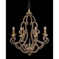 Paris 8 Light 38 inch Hand-Painted Chandelier Ceiling Light