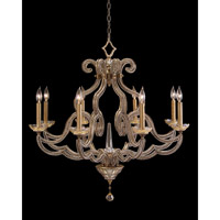 Paris 8 Light 34 inch Gold Leaf Chandelier Ceiling Light, Hand-Painted