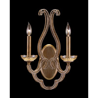 Paris 2 Light 13 inch Gold Leaf Wall Sconce Wall Light