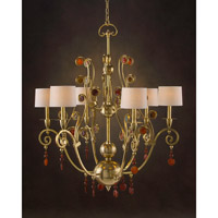 John Richard Diorre 6 Light Chandelier in Plated AJC-8685