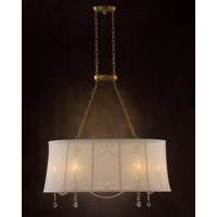 John Richard Zaza 6 Light Chandelier in Plated AJC-8687