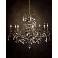 John Richard Alexander John Wilshire Boulevard 8 Light Chandelier in Hand-Painted  AJC-8698
