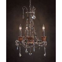 John Richard Burbon Street 3 Light Chandelier in Hand-Painted AJC-8704