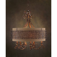 John Richard Dache 5 Light Chandelier in Hand-Painted AJC-8707