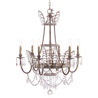 Signature 6 Light 29 inch Arezzo Silver Chandelier Ceiling Light