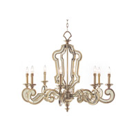 Signature 8 Light 37 inch Aged Silver Chandelier Ceiling Light