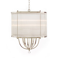 Signature 8 Light 24 inch Nickel Plated Chandelier Ceiling Light