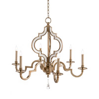 Reflections 6 Light Antique Silver Chandelier Ceiling Light