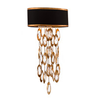 Black Tie 1 Light 12 inch Gold and Black Wall Sconce Wall Light