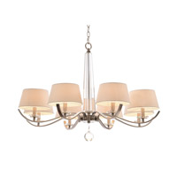 John Richard Curvaceous 8 Light Chandelier in Brushed Nickel AJC-8801