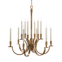 John Richard Arc/Plane 12 Light Chandelier in Antique Brass AJC-8803