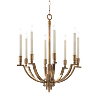 John Richard Arc/Plane 8 Light Chandelier in Antique Brass AJC-8804