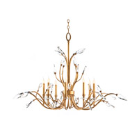 John Richard Diaphanous 8 Light Chandelier in Antique Gold Leaf AJC-8806