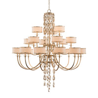 Counterpoint 21 Light 58 inch Champagne and Cool White Chandelier Ceiling Light
