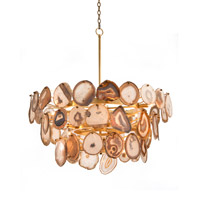 Agate 1 Light 39 inch Gold Leaf Chandelier Ceiling Light