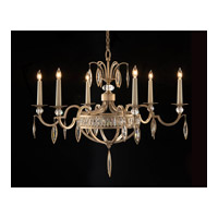 Marquis 6 Light 36 inch Antique Silver Leaf Chandelier Ceiling Light