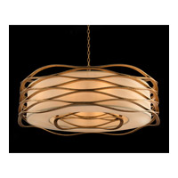 Ribbons of Gold 12 Light 42 inch Gold Leaf Pendant Ceiling Light